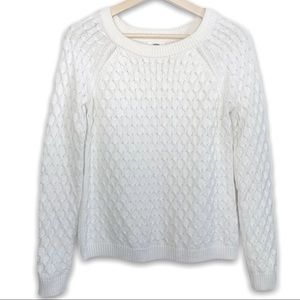Old Navy Chunky Knit White Sweater